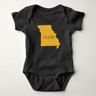 Body Para Bebé Missouri hizo el mono del bebé {negro y el oro}
