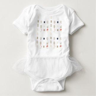 Body Para Bebé Modelo abstracto de las formas en los colores en