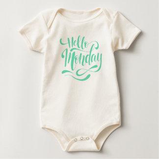 Body Para Bebé Mono caprichoso lindo de lunes el | del hola