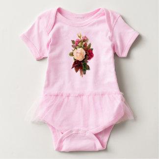 Body Para Bebé Mono color de rosa del tutú del bebé de la pintura