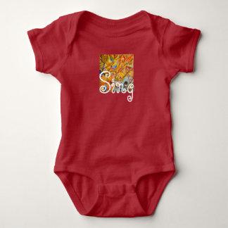 Body Para Bebé Mono colorido del bebé de los pájaros