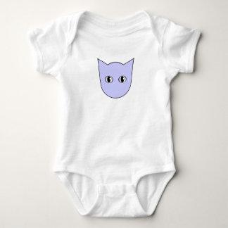 Body Para Bebé Mono de la cara del gato azul