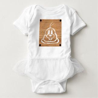 Body Para Bebé Mono de madera 1 del tutú del bebé del 鮑鮑 del