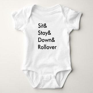 Body Para Bebé Mono del bebé de la refinanciación de Sit& Stay&