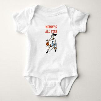 Body Para Bebé Mono del bebé del baloncesto