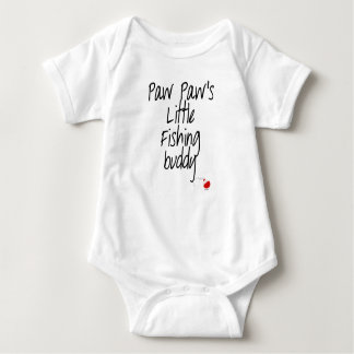 Body Para Bebé Mono del bebé del compinche de la pesca de la pata