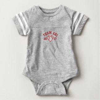 Body Para Bebé Mono del bebé del fútbol del corazón del béisbol