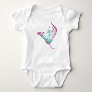 Body Para Bebé Mono del bebé del ilustracion del rayo de Manta