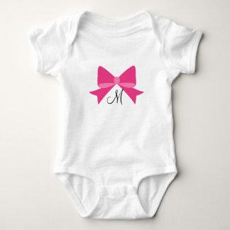 Body Para Bebé Mono del bebé del monograma del arco de las rosas