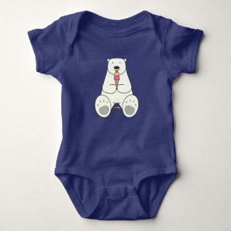 Body Para Bebé Mono del bebé del oso polar del amante del helado