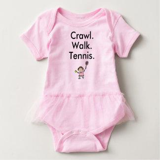 Body Para Bebé Mono del bebé del rosa del chica del tenis con el