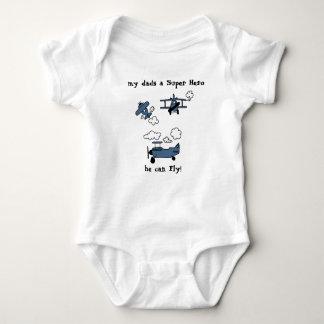 Body Para Bebé Mono del bebé del superhéroe de los biplanos del
