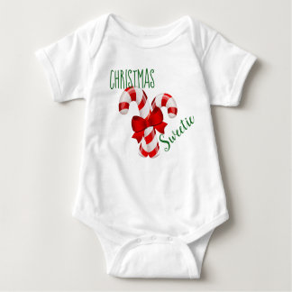 Body Para Bebé Mono del bebé del Sweetie del navidad