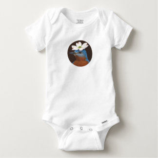 Body Para Bebé Mono del Bluebird y del dogwood