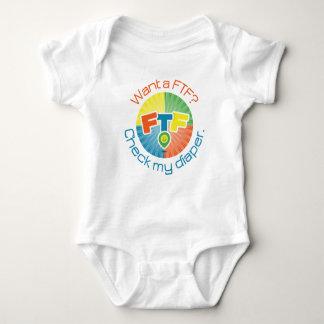 Body Para Bebé Mono del pañal de FTF
