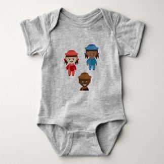 Body Para Bebé Mono del rollo de Qrolly