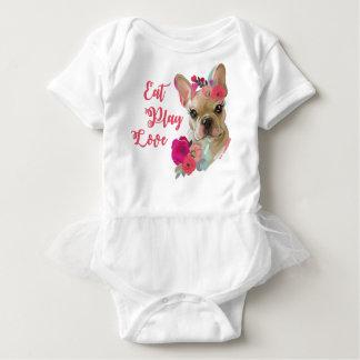 Body Para Bebé Mono del TUTÚ del bebé con arte lindo del dogo