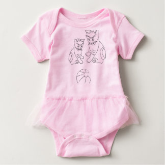 Body Para Bebé Mono del tutú del bebé con los gatos divertidos