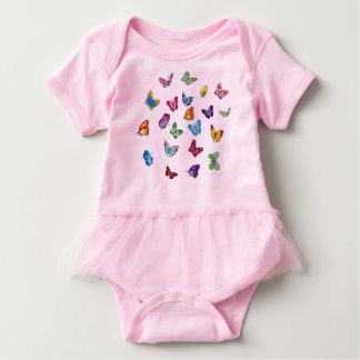 Body Para Bebé mono del tutú del bebé de la mariposa