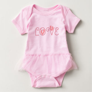 Body Para Bebé Mono del tutú del bebé del AMOR