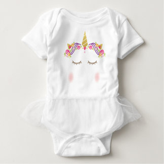 Body Para Bebé Mono del tutú del bebé del unicornio