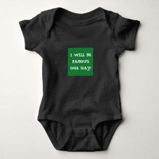 Body Para Bebé ¡Mono FAMOSO único para los jóvenes de aspiración!