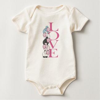 Body Para Bebé Mono feliz del el día de San Valentín el   del