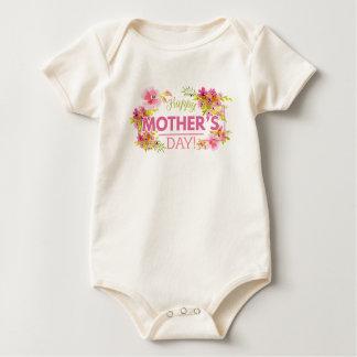 Body Para Bebé Mono feliz floral elegante del día de madre el  