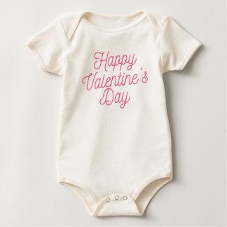 Body Para Bebé Mono feliz rosado del el día de San Valentín el |