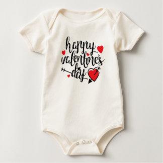 Body Para Bebé Mono feliz simple del el día de San Valentín