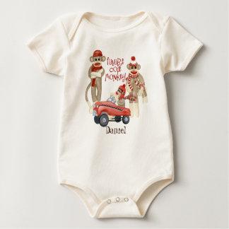 Body Para Bebé Mono futuro del código, enredadera personalizada