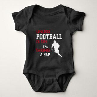 Body Para Bebé Mono GRANDE del bebé del fanático del fútbol