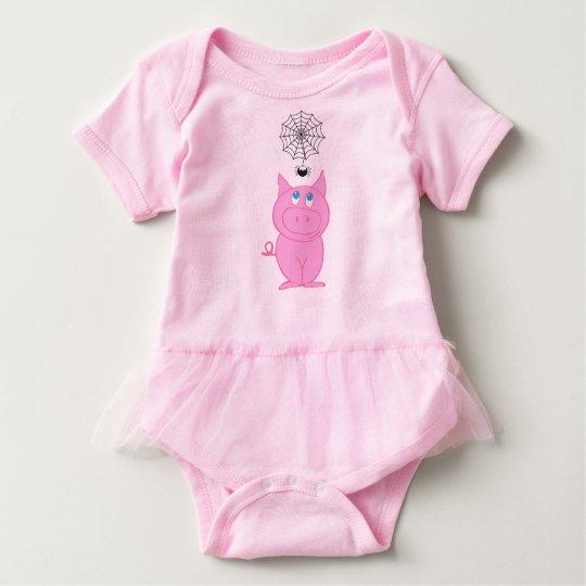 Body Para Bebé Mono guarro del tutú del bebé del Web