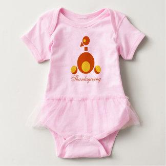 Body Para Bebé Mono HQH del tutú del bebé de la acción de gracias