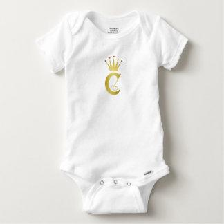 Body Para Bebé Mono inicial del bebé del monograma de la letra