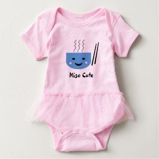 Body Para Bebé Mono lindo del Miso con el tutú