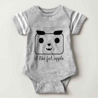 Body Para Bebé Mono lindo HQH del fútbol del bebé de la manzana