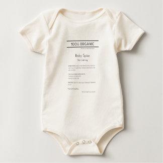 Body Para Bebé Mono orgánico de la especia del bebé