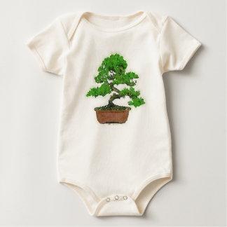 Body Para Bebé Mono orgánico del árbol japonés de los bonsais del