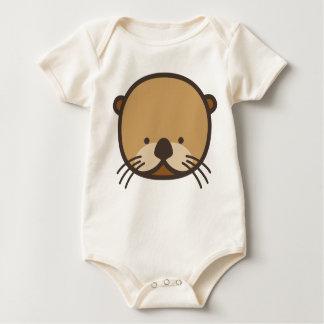 Body Para Bebé Mono orgánico del bebé de la nutria de WeeOnez