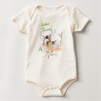 """Body Para Bebé Mono orgánico del bebé de los """"tesoros ocultados"""""""