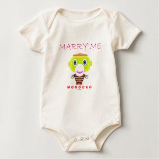 Body Para Bebé Mono orgánico del bebé para el favorable al medio