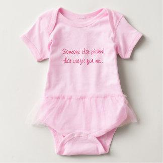 Body Para Bebé Mono rosado de la niña
