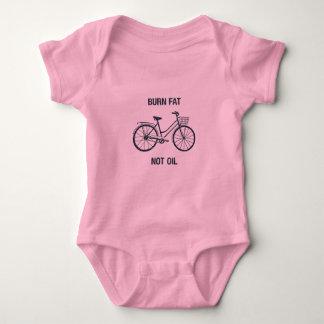 Body Para Bebé Mono rosado del bebé de la bici