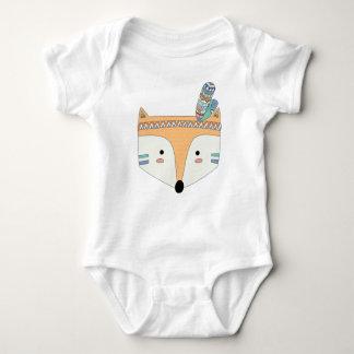 Body Para Bebé Mono tribal del bebé del Fox de Boho