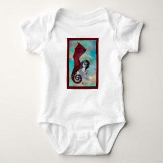 Body Para Bebé Monstruo rojo del reptil del dragón del potro del