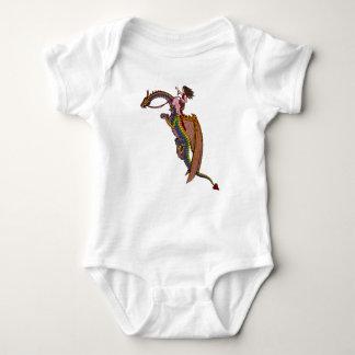 Body Para Bebé Montar el dragón del arco iris