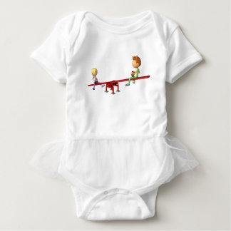 Body Para Bebé Muchachos del dibujo animado que se divierten en