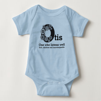 Body Para Bebé Muchachos nombre de Otis y dientes del Horario de