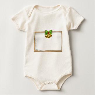 Body Para Bebé Muestra de madera de la voluta del navidad